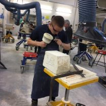 Image showing Sam, one of our apprentice stonemasons