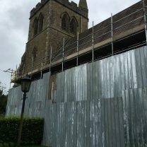 Image showing scaffolding at the church