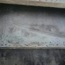 Image showing damaged louver blade prior to work commencing