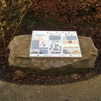 Image of the interpretation panel detailing the history of the Pinnacle