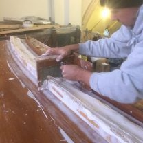 Image showing new plaster ribs being made