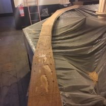 Image showing completed timber rib ahead of fitting to the ceiling