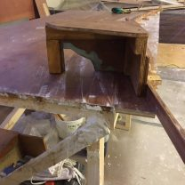 Image showing mould being made for new plaster ribs