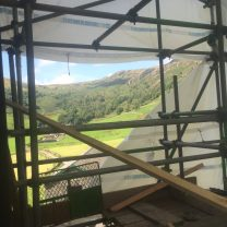 Image showing the view from the scaffold (valley backdrop)