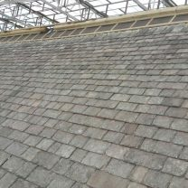 Image showing final stages of slate roof works