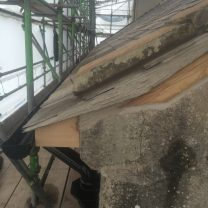 Image showing slates and lime pointing