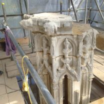 Image showing final stages of masonry rebuild