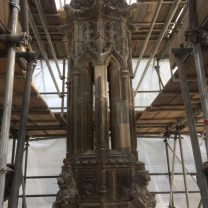 Image showing the Pinnacle inside the scaffold