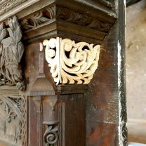 Image showing intricate timber carving