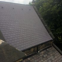 Image showing completed roof slating at St Pauls, Astley Bridge
