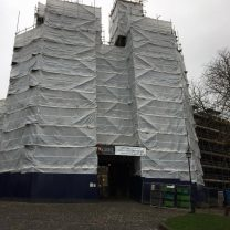Image showing the scaffold at the entrance of Lancaster Castle