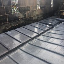 Image showing completed lead work to the roof