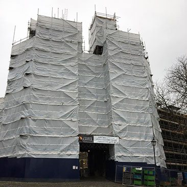 Image showing scaffold at Lancaster Castle