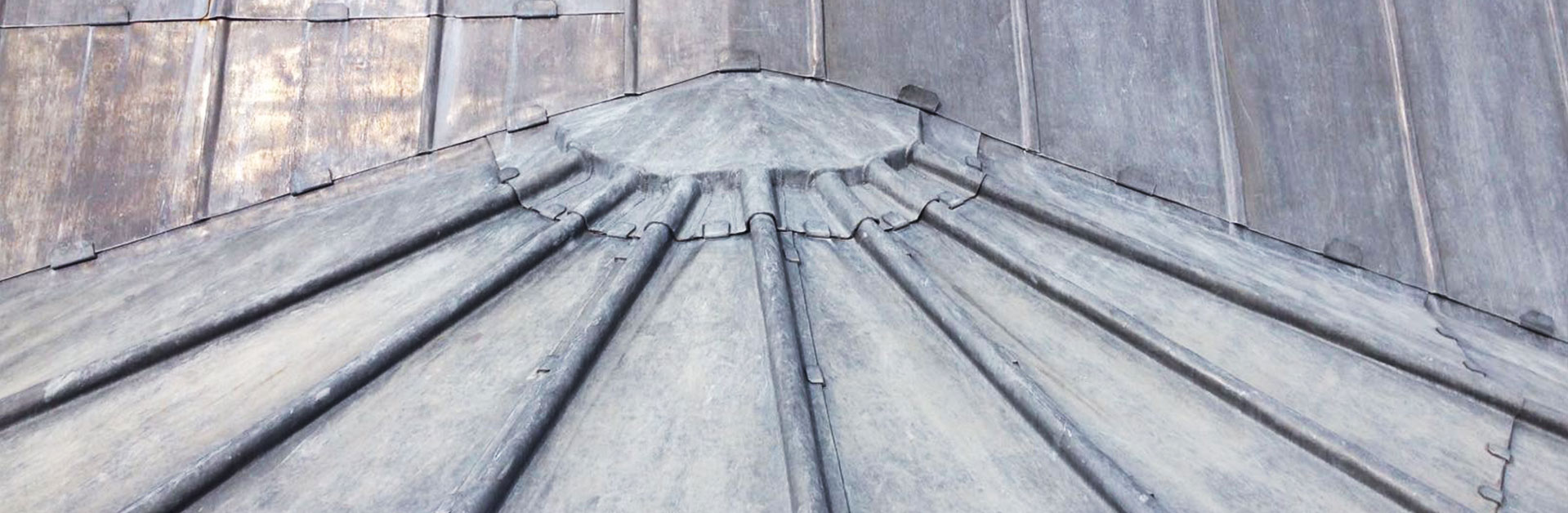 Close up lead roofing