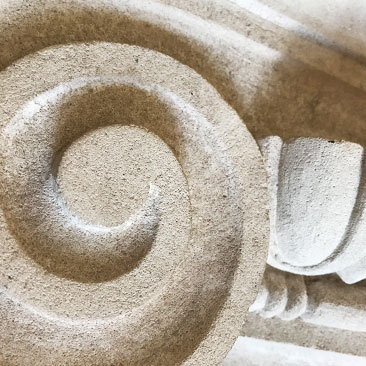 Image showing close up of carved stonemasonry