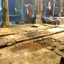 Image showing original floor as part of the conservation project at Halifax