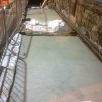 Image showing lime screed curing