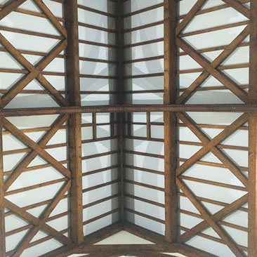 Image showing the timber framework in the ceiling of St Jame's, Gorton