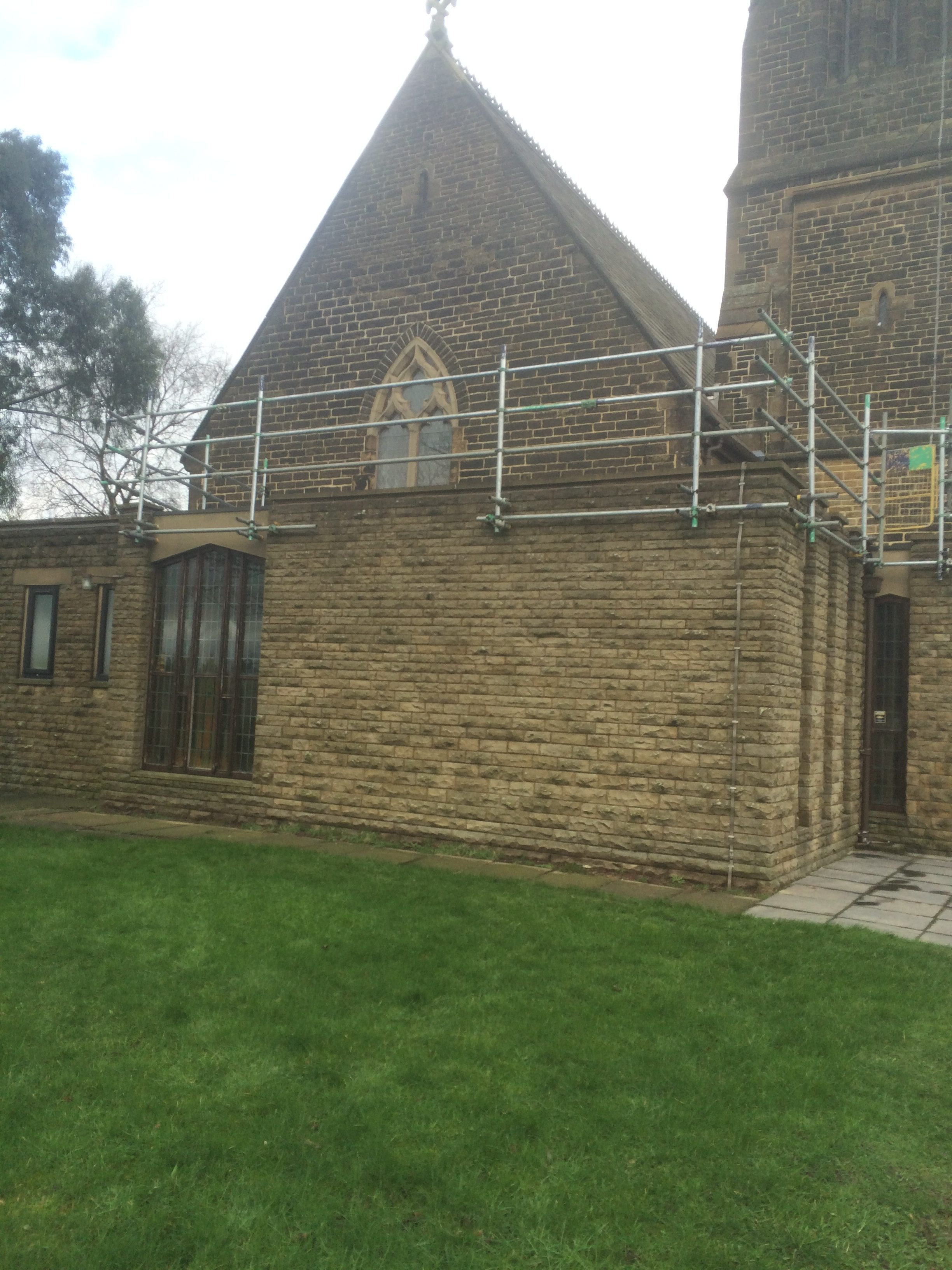 Image showing church roof working area at St Matthew's, Chadderton