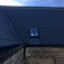 Conservation Roof Light Installed on new Slate Roof