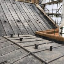 Image showing new lead work including new lead vents