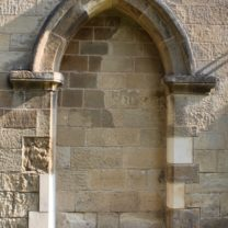 Image showing New Jamb Stones fitted with existing stones to old opening