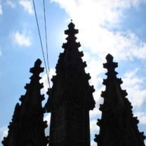 Image showing three silhouettes of the Tower Pinnacles