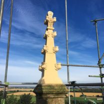 Image showing one of the new Pinnacles standing tall against the bluest sky