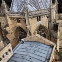 Image looking down on the completed Lead roof