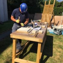 Image showing James, one of our Company Directors and Stonemason lettering