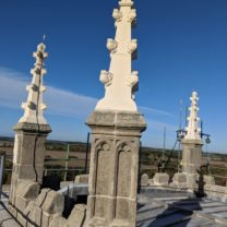 Image showing 3 of the 8 new Pinnacles at the top of the Tower