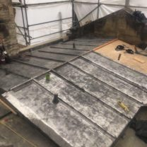 Image showing the new lead bays being installed to the new joinery substrate