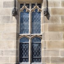 Image ofa new refurbished Leaded window to the East Face of the Tower