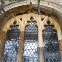 Image of the Tracery Window installed to the Cleristry