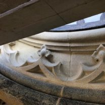 Image showing Newly carved stones installed as part of the restored Clock surround