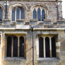 Image showing the Restored Mullioned Windows and Tracery Windows to the South side of the Church