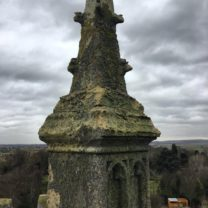 Image of one of the original Pinnacles at the top of the tower prior to dismantle