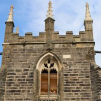 Image showing New Pinnacles, Tracery to the Belfry Windows along with new Oak Louvres on the Tower