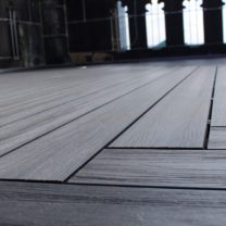 Image showing the detail of the new Composite Decking to the top of the Tower
